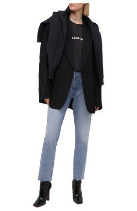 Женская хлопковая футболка KSUBI черного цвета, арт. 5000005797 | Фото 2