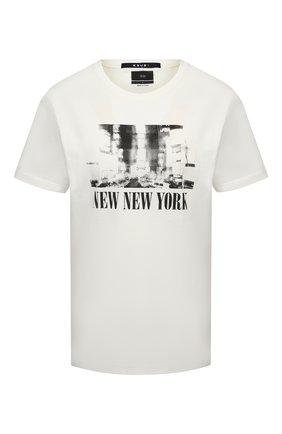 Женская хлопковая футболка KSUBI белого цвета, арт. 5000005798   Фото 1