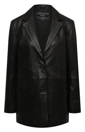 Женский кожаный жакет KSUBI черного цвета, арт. 5000005339   Фото 1