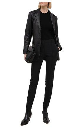 Женский кожаный жакет KSUBI черного цвета, арт. 5000005339   Фото 2