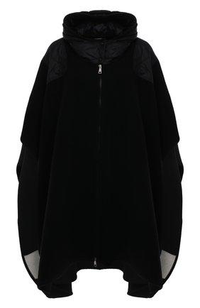 Женская шерстяное пончо MONCLER черного цвета, арт. G1-093-3G515-00-A0189   Фото 1