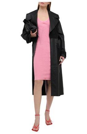 Женское платье из вискозы HELMUT LANG розового цвета, арт. K10HW705 | Фото 2