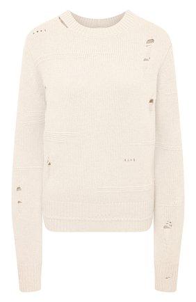 Женский свитер из шерсти и кашемира HELMUT LANG кремвого цвета, арт. K10HW704 | Фото 1