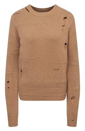 Женский свитер из шерсти и кашемира HELMUT LANG коричневого цвета, арт. K10HW704 | Фото 1
