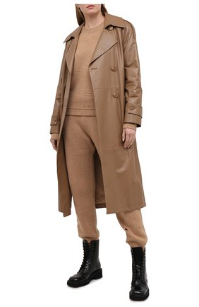 Женский свитер из шерсти и кашемира HELMUT LANG коричневого цвета, арт. K10HW704 | Фото 2