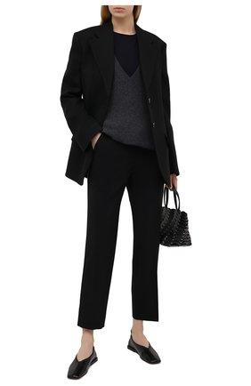 Женские шерстяные брюки LORENA ANTONIAZZI черного цвета, арт. P2108PA009/3180 | Фото 2