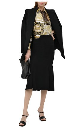 Женская шелковая рубашка VERSACE золотого цвета, арт. A82662/1F00456 | Фото 2
