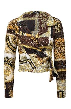 Женская шелковая блузка VERSACE золотого цвета, арт. A88213/1F00456 | Фото 1