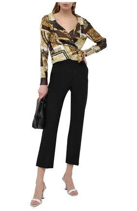 Женская шелковая блузка VERSACE золотого цвета, арт. A88213/1F00456 | Фото 2