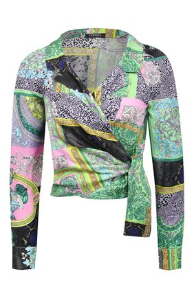 Женская шелковая блузка VERSACE разноцветного цвета, арт. A88213/1F00456 | Фото 1
