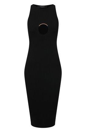 Женское платье из вискозы VERSACE черного цвета, арт. A88428/A237516 | Фото 1