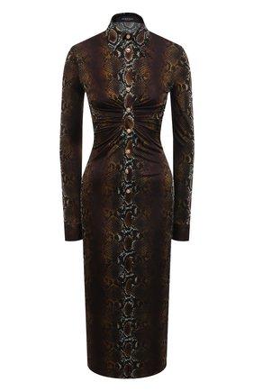 Женское платье из вискозы VERSACE коричневого цвета, арт. A88465/1F00460 | Фото 1