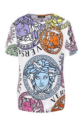 Женская хлопковая футболка VERSACE разноцветного цвета, арт. A88678/1F00404 | Фото 1