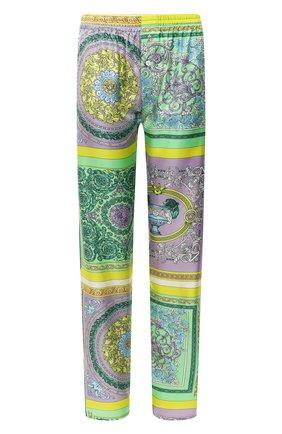 Женские шелковые брюки VERSACE разноцветного цвета, арт. AUD05057/1F00508 | Фото 1