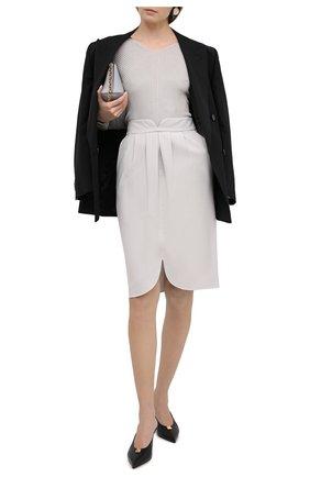 Женский шелковый пуловер GIORGIO ARMANI светло-серого цвета, арт. 3KAM14/AM37Z | Фото 2