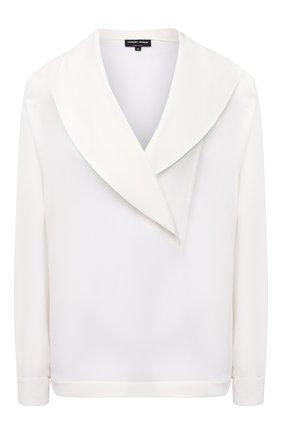Женская шелковая блузка GIORGIO ARMANI белого цвета, арт. 1SHCCZ09/TZ611 | Фото 1