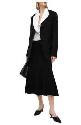 Женская шелковая блузка GIORGIO ARMANI белого цвета, арт. 1SHCCZ09/TZ611 | Фото 2