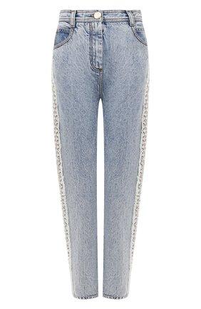 Женские джинсы BALMAIN голубого цвета, арт. VF15700/D105 | Фото 1