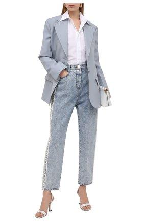 Женские джинсы BALMAIN голубого цвета, арт. VF15700/D105 | Фото 2