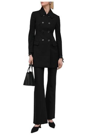 Женское пальто REDVALENTINO черного цвета, арт. VR3CAD20/1Y1 | Фото 2