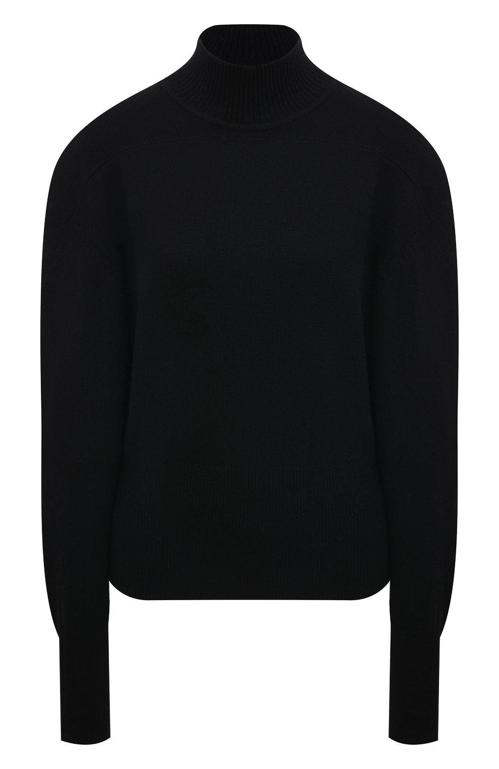 Женский кашемировый свитер PROENZA SCHOULER черного цвета, арт. R2117577-KK020 | Фото 1 (Женское Кросс-КТ: Свитер-одежда; Материал внешний: Шерсть, Кашемир; Рукава: Длинные; Длина (для топов): Стандартные; Стили: Кэжуэл)