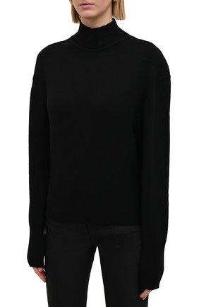 Женский кашемировый свитер PROENZA SCHOULER черного цвета, арт. R2117577-KK020 | Фото 3 (Женское Кросс-КТ: Свитер-одежда; Материал внешний: Шерсть, Кашемир; Рукава: Длинные; Длина (для топов): Стандартные; Стили: Кэжуэл)