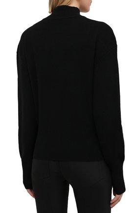 Женский кашемировый свитер PROENZA SCHOULER черного цвета, арт. R2117577-KK020 | Фото 4 (Женское Кросс-КТ: Свитер-одежда; Материал внешний: Шерсть, Кашемир; Рукава: Длинные; Длина (для топов): Стандартные; Стили: Кэжуэл)