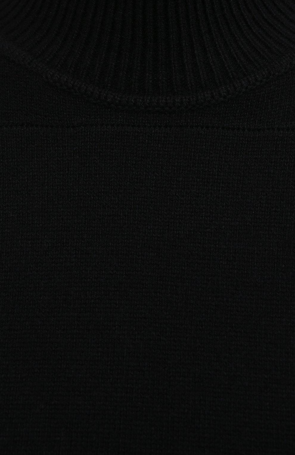 Женский кашемировый свитер PROENZA SCHOULER черного цвета, арт. R2117577-KK020 | Фото 5 (Женское Кросс-КТ: Свитер-одежда; Материал внешний: Шерсть, Кашемир; Рукава: Длинные; Длина (для топов): Стандартные; Стили: Кэжуэл)
