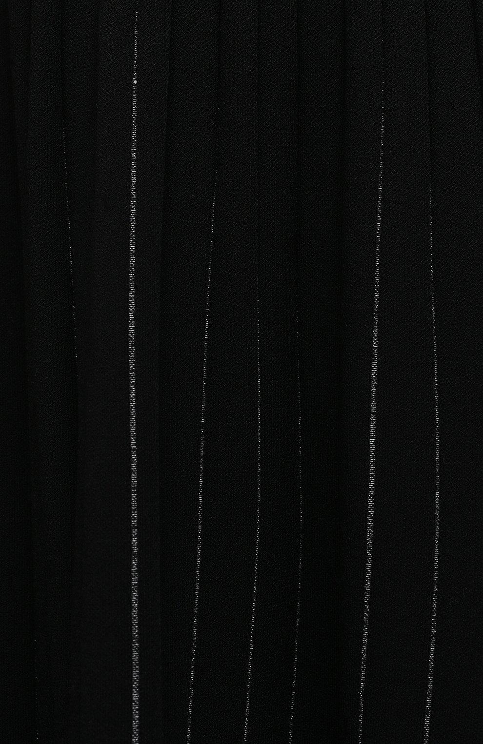 Женское платье из вискозы PROENZA SCHOULER черного цвета, арт. R2117599-KY213 | Фото 5 (Случай: Повседневный; Длина Ж (юбки, платья, шорты): Миди; Материал внешний: Вискоза; Рукава: 3/4; Стили: Романтичный)