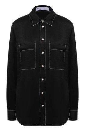 Женская рубашка из вискозы PROENZA SCHOULER WHITE LABEL черного цвета, арт. WL2114225-BY194 | Фото 1