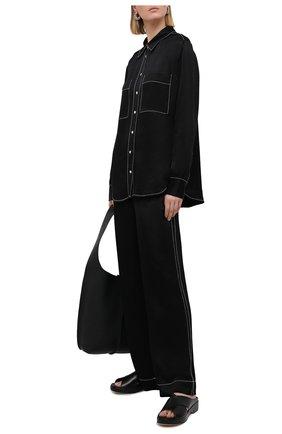 Женская рубашка из вискозы PROENZA SCHOULER WHITE LABEL черного цвета, арт. WL2114225-BY194 | Фото 2