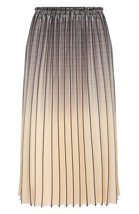 Женская юбка PROENZA SCHOULER WHITE LABEL кремвого цвета, арт. WL2115040-BY193   Фото 1 (Женское Кросс-КТ: юбка-плиссе; Материал внешний: Синтетический материал; Длина Ж (юбки, платья, шорты): Миди)
