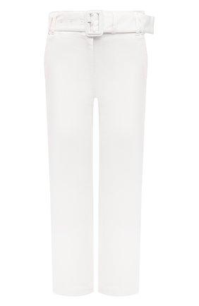 Женские хлопковые брюки PROENZA SCHOULER WHITE LABEL белого цвета, арт. WL2116062-AC115 | Фото 1