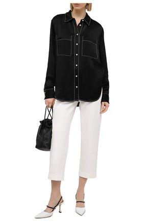 Женские хлопковые брюки PROENZA SCHOULER WHITE LABEL белого цвета, арт. WL2116062-AC115 | Фото 2