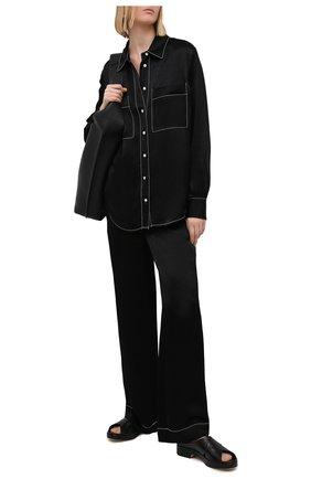Женские брюки из вискозы PROENZA SCHOULER WHITE LABEL черного цвета, арт. WL2116071-BY194 | Фото 2