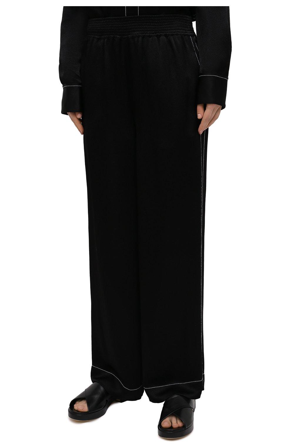 Женские брюки из вискозы PROENZA SCHOULER WHITE LABEL черного цвета, арт. WL2116071-BY194   Фото 3
