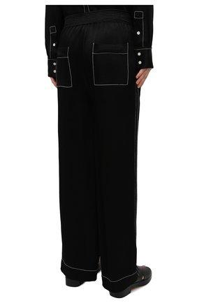 Женские брюки из вискозы PROENZA SCHOULER WHITE LABEL черного цвета, арт. WL2116071-BY194   Фото 4