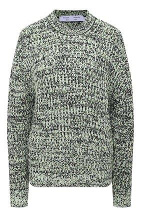 Женский свитер из хлопка и вискозы PROENZA SCHOULER WHITE LABEL светло-зеленого цвета, арт. WL2117566-KC084 | Фото 1