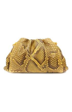 Женский клатч pouch 20 из кожи питона BOTTEGA VENETA желтого цвета, арт. 585852/VMAN4/PBIV | Фото 1