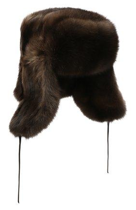 Шапка-ушанка из меха соболя | Фото №1