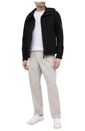 Мужские хлопковые брюки-карго GIORGIO ARMANI светло-серого цвета, арт. 1SGPP0GT/T02EY | Фото 2