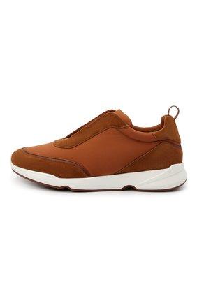 Мужские комбинированные кроссовки modular walk LORO PIANA светло-коричневого цвета, арт. FAL6187 | Фото 3
