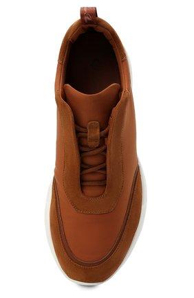 Мужские комбинированные кроссовки modular walk LORO PIANA светло-коричневого цвета, арт. FAL6187 | Фото 5