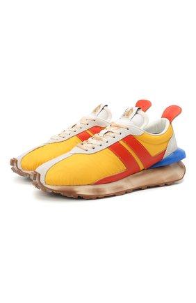 Мужские комбинированные кроссовки LANVIN желтого цвета, арт. FM-SKBRUN-NYL1-P21 | Фото 1