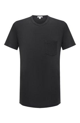 Мужская хлопковая футболка JAMES PERSE серого цвета, арт. MLJ3282 | Фото 1 (Рукава: Короткие; Материал внешний: Хлопок; Принт: Без принта; Длина (для топов): Стандартные; Стили: Минимализм)