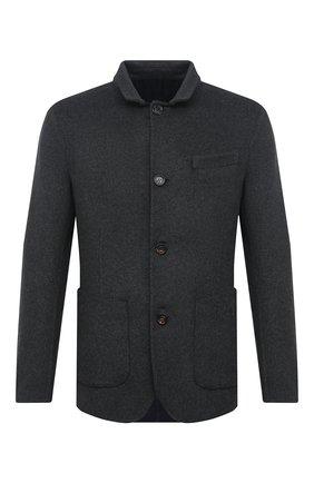 Мужской пальто из шерсти викуньи BRUNELLO CUCINELLI серого цвета, арт. MP4659923/VVIC | Фото 1