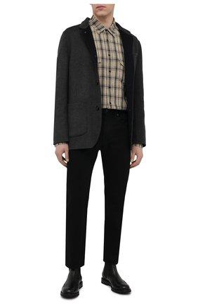 Мужской пальто из шерсти викуньи BRUNELLO CUCINELLI серого цвета, арт. MP4659923/VVIC | Фото 2
