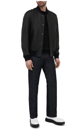 Мужские кожаные челси ALEXANDER MCQUEEN белого цвета, арт. 586198/WHX52 | Фото 2 (Материал внутренний: Натуральная кожа; Мужское Кросс-КТ: Сапоги-обувь, Челси-обувь; Подошва: Массивная)