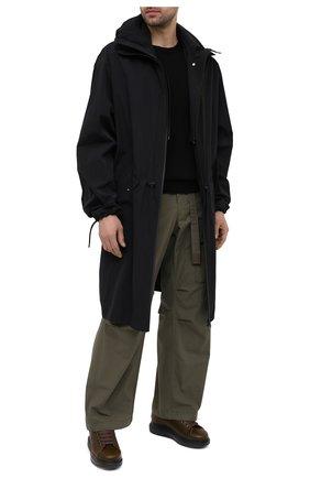 Мужские кожаные кеды ALEXANDER MCQUEEN хаки цвета, арт. 604228/WHXE2 | Фото 2 (Материал утеплителя: Натуральный мех; Материал внешний: Кожа; Подошва: Массивная)