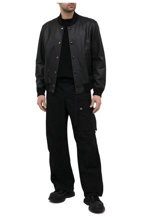 Мужские замшевые ботинки ALEXANDER MCQUEEN черного цвета, арт. 627206/WHBGU | Фото 2